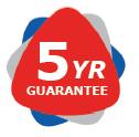 Storage units 5 year guarantee