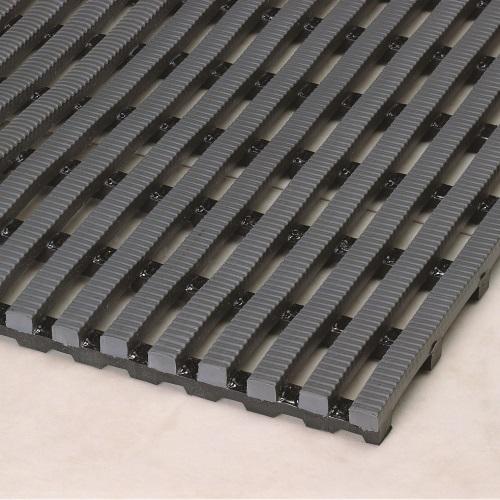 Heronrib Wet Area Non Slip Mat Charcoal Grey