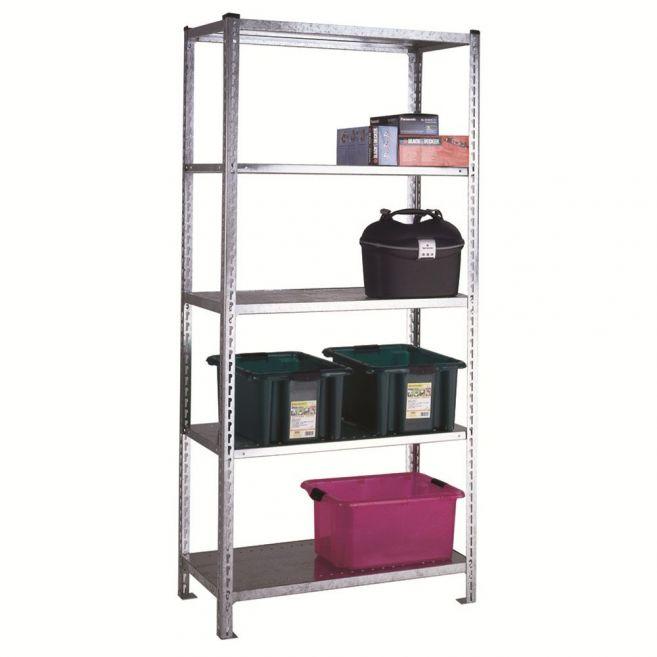 Galvanised shelving with Galvatite shelves