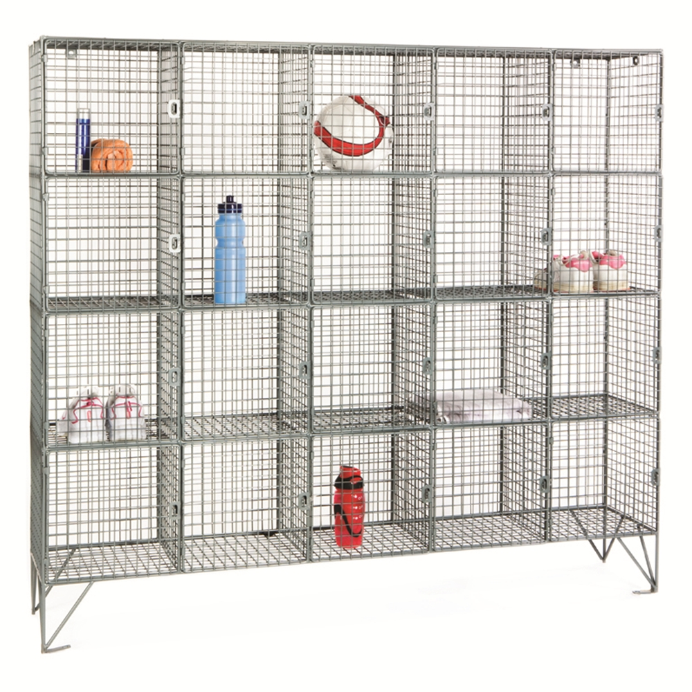 Wire mesh compartment lockers 20 compartments