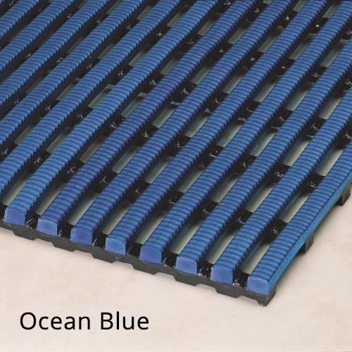 Heronrib Wet Area Non Slip Mat Ocean Blue