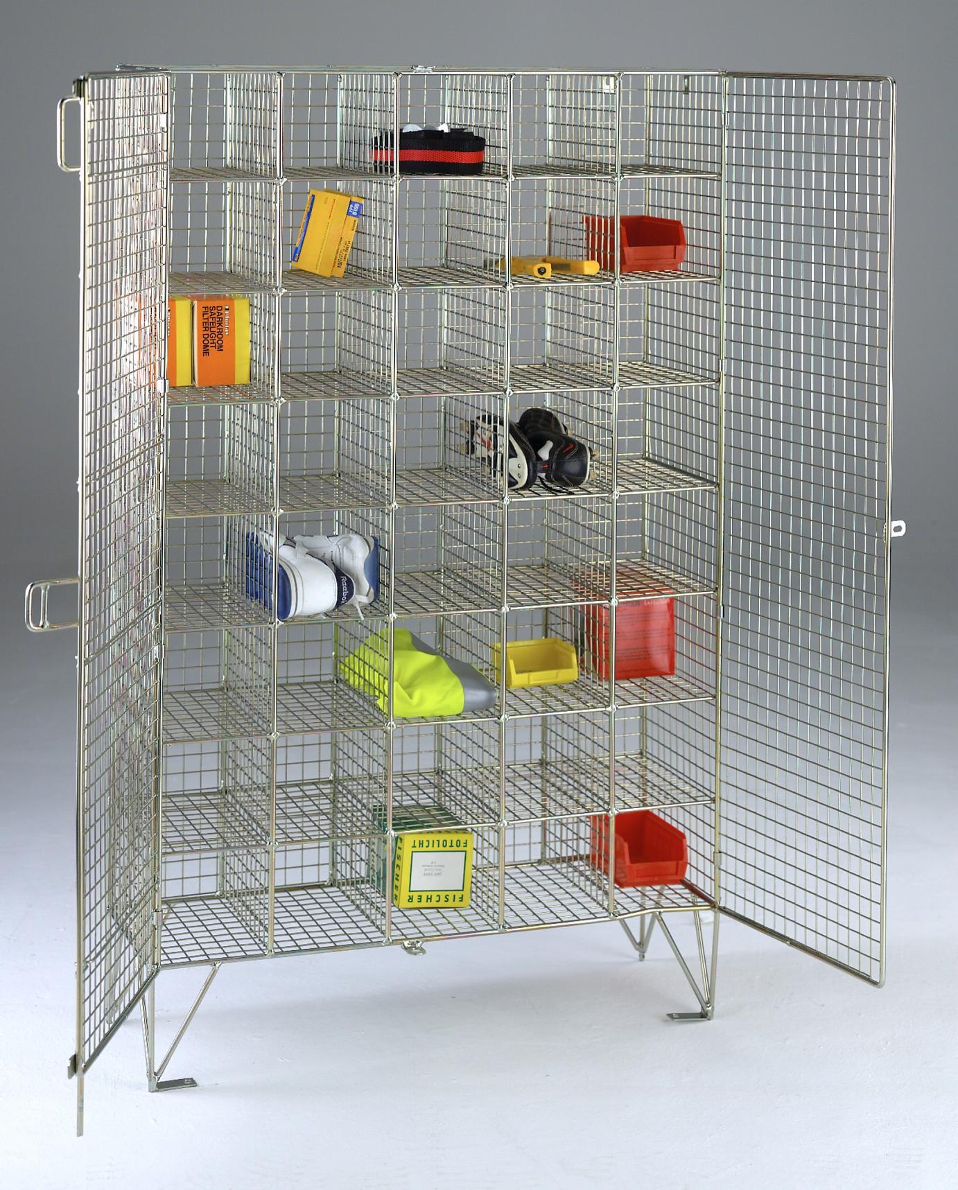 Wire Mesh Locker Compartments