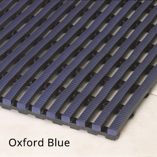 Heronrib Wet Area Non Slip Mat Oxford Blue