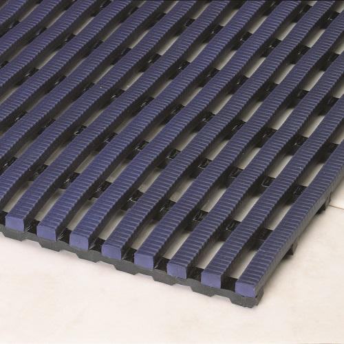 Heronrib Wet Area Non Slip Mat Oxford Blue