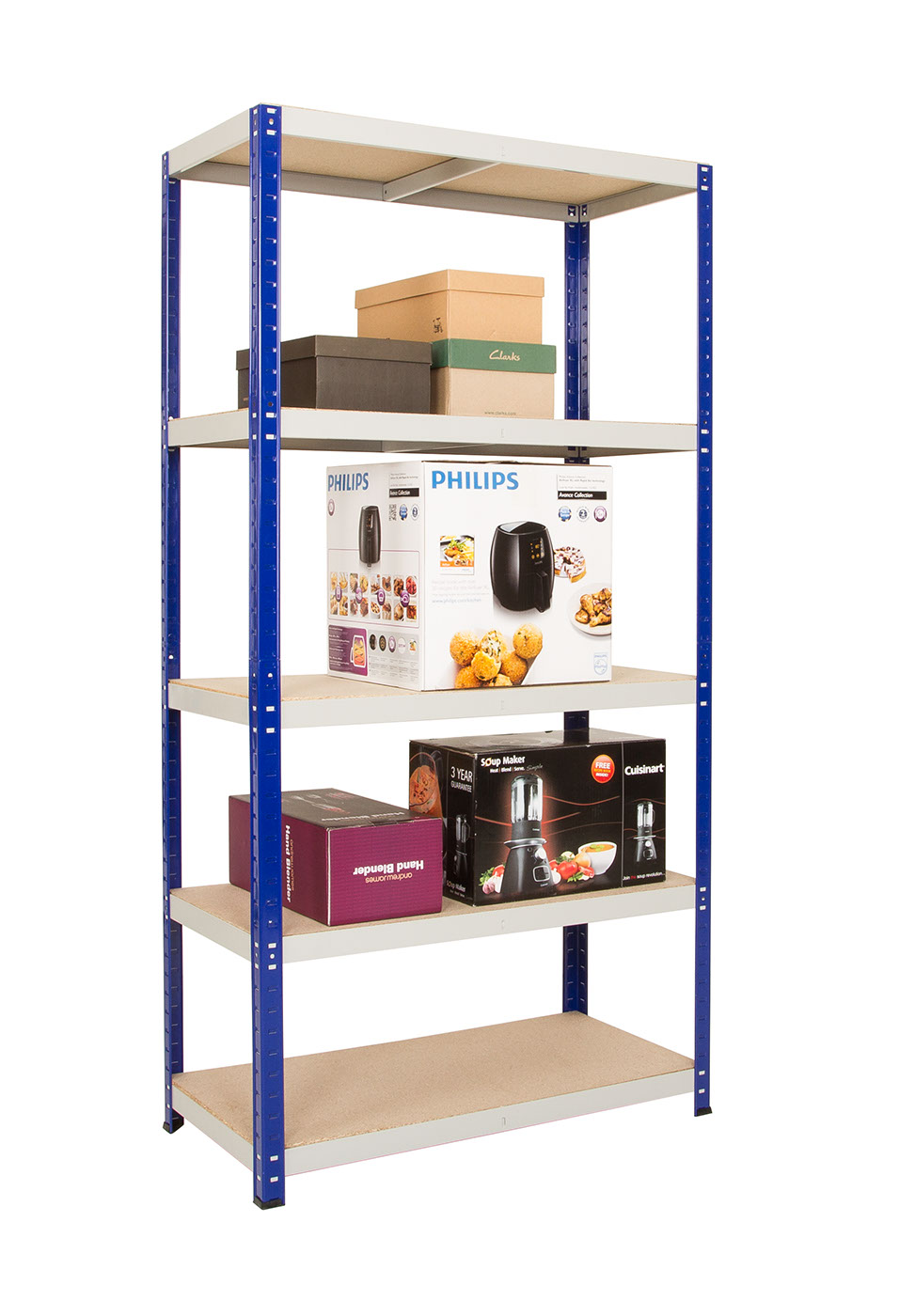 Clicka Blue/Grey Shelving