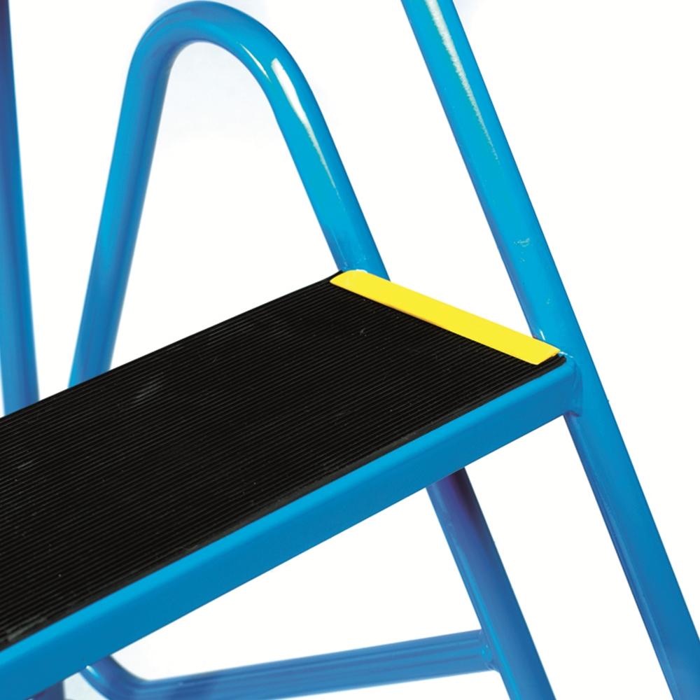 steps with anti-slip treads