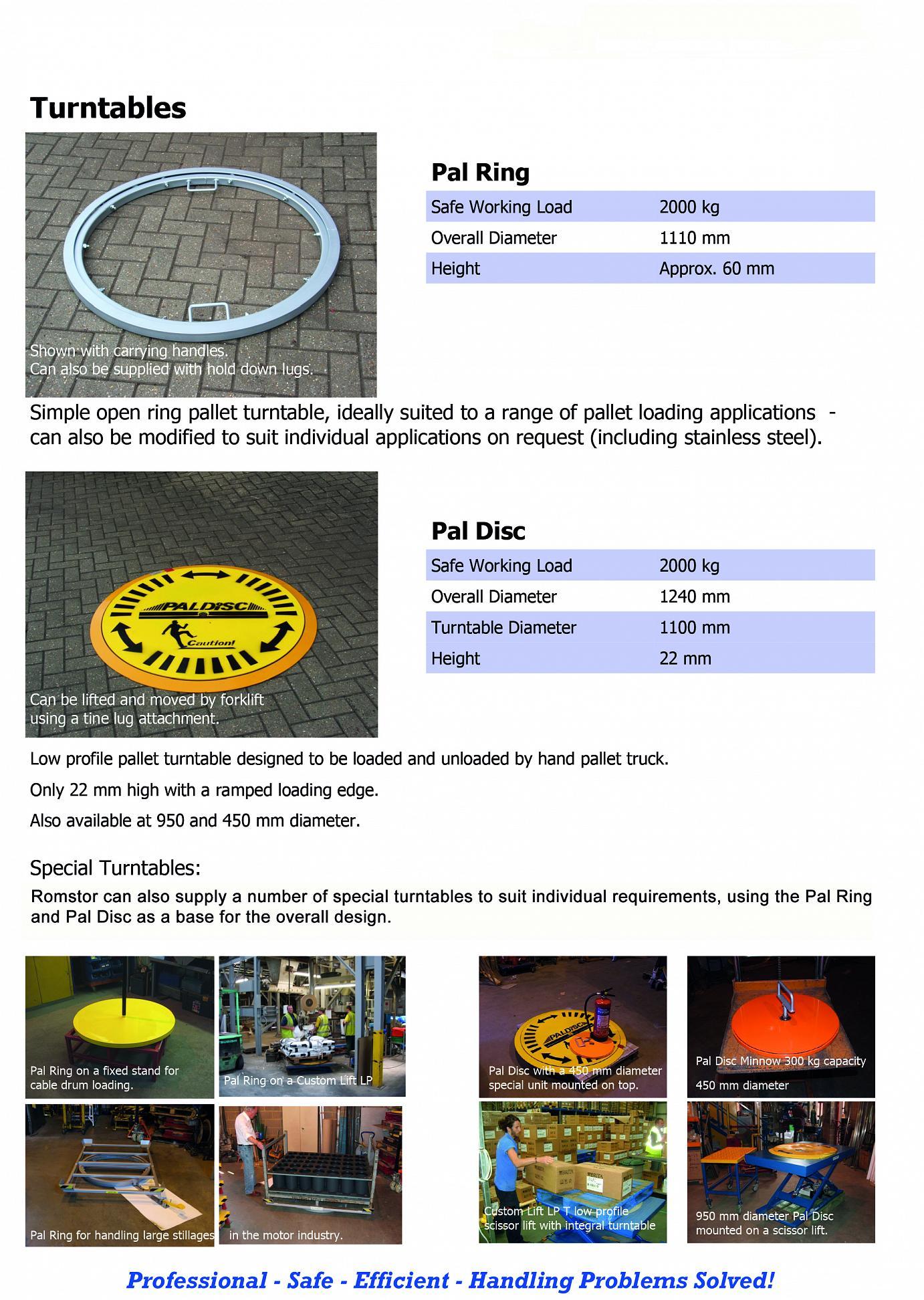 Pal Ring Turntable Brochure