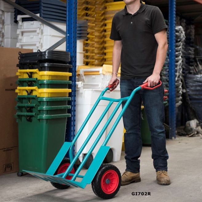 eavy Duty Sack Trucks with Puncture Proof Wheels