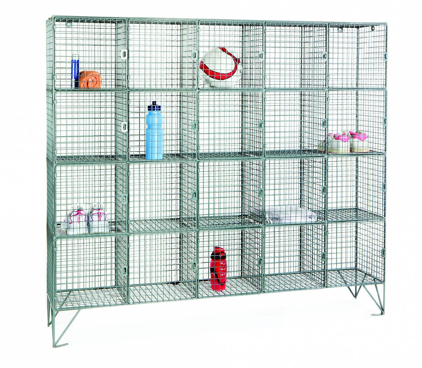Wire Mesh Locker Compartments - Romstor