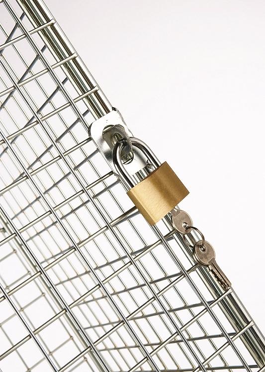 Wire Mesh Locker Compartment Hasp and Staple Lock