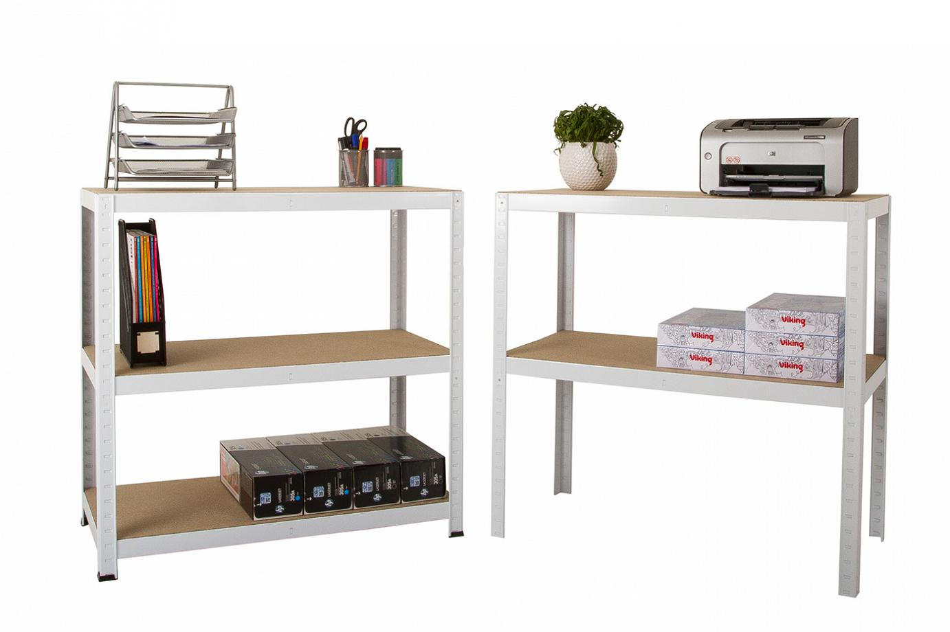 Clicka Shelving split into bench