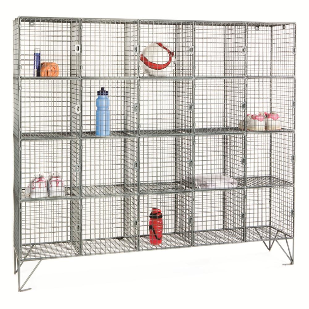Wire mesh lockers multi compartments