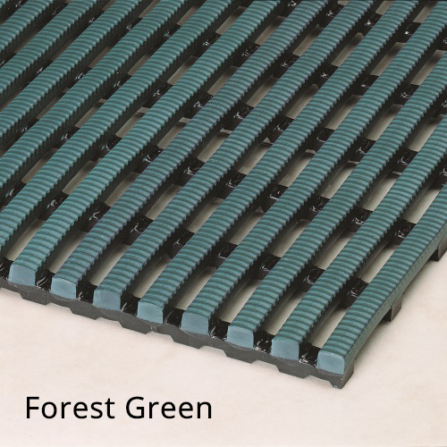 Heronrib Wet Area Non Slip Mat Forest Green