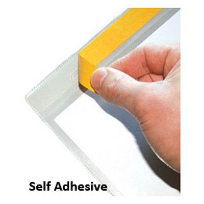 Self-adhesive document pocket