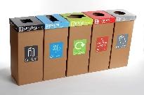 Cardboard Recycling Bins - Set of 5