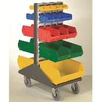 Trolley with small containers