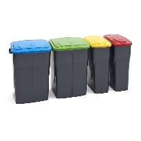 Push Lid Bins