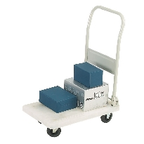 MINI PLASTIC PLATFORM TROLLEY - WHITE