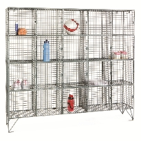 Wire Mesh Lockers - Multi Compartment