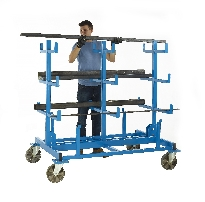 Heavy Duty Mobile Bar Storage Rack