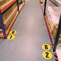 Floor identification markers