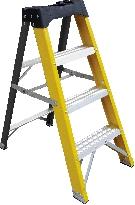 Climb-It® Glass Fibre Swingback Stepladders