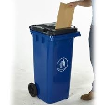 Wheeled BIns with Letter Slot Lid
