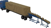 Container/Trailer Conveyor – (where no loading dock available)