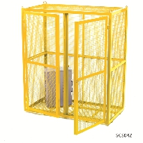 Security Cages - Painted Yellow