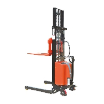 Semi Electric Straddle Stacker & Adjustable Forks