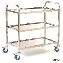 Stainless Steel Braked Shelf Trolleys