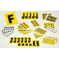 self-adhesive numbers & letters