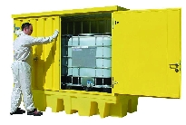 Polyethylene Spill Pallets with Steel Covers
