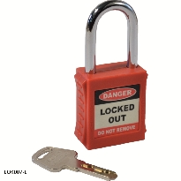 red safety lockout padlock