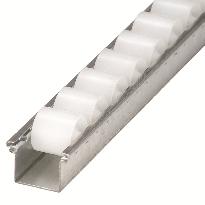 Conveyor gravity roller tracks